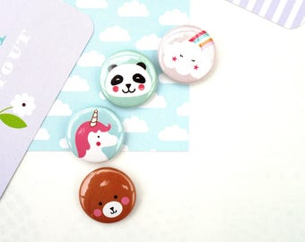 Badge 25 mm 'collection kawaii' to choose from 4 designs