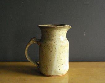 Just A Narrow Pitcher - Vintage Pottery - Handmade Vase - Neutral Colors - Studio Pottery - Art Pottery