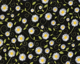 Timeless Treasures - You Are My Sunshine - Sunflowers - Black - Fabric by the Yard C5498-BLK
