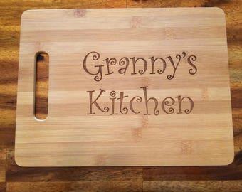 Granny cutting board   Etsy