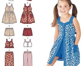 Cute Little Girls Summer Dress Patterns--Girls Multi 3-8 Sz -- 20-70% off Patterns n Books SALE