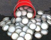 Zinc Lids w Milk Glass Liners for Ball / Mason Canning Jars Lot of 4