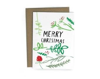 Christmas Sprigs Single A6 Card