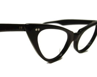 Vintage Winged AmericanOptical Cateye Eyeglasses Eyewear Frame