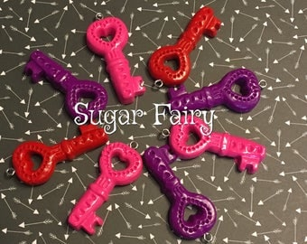 Heart Key Clay Miniature