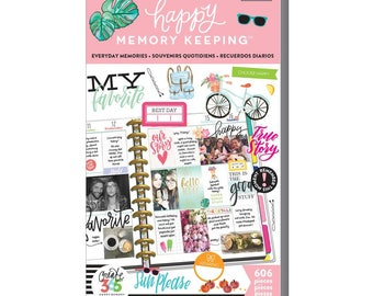 Everyday Memories Big Happy Memory Keeping Sticker Value Packs (606/Pkg) Me and My Big Ideas (PPSV-29-3048)