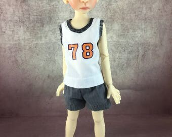 78 tank top and shorts for Maurice by Kaye Wiggs MSD BJD Boys