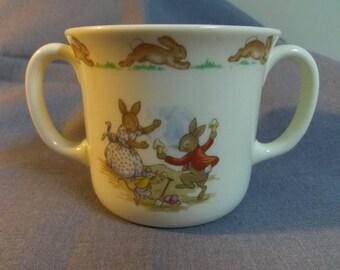 Royal Doulton Bunnykins, Double Handle Hug A Mug, Punch and Judy Show