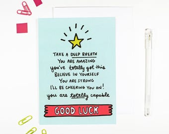 Good Luck Card for Sending Support I Believe In You Card
