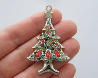 1 Christmas tree pendant tibetan silver CT178