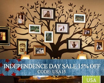 Independence Day Sale - Wall Decals Kids Wall Decals Nursery Family Tree Decals for Home and Baby Nursery