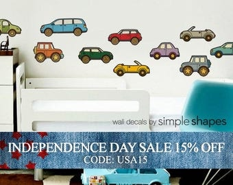 Independence Day Sale - Cars - Peel and Stick Repositionable Stickers