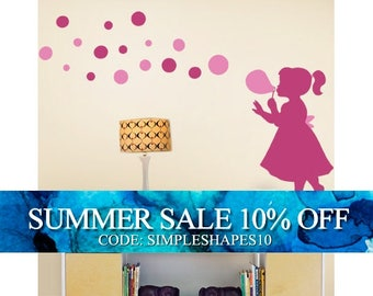 Bubble Girl Decal - Children's Vinyl Wall Sticker