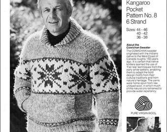 Cowichan Style Kangaroo Pocket Pullover PDF