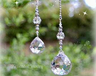Ceiling Light Pull Set, Prism Crystal Fan Chain Pull