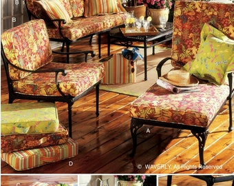 Seat Cushions Pattern, Outdoor Seat Cushions Pattern, Butterick Sewing Pattern 4759