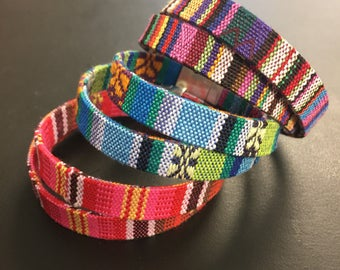 Wrap Bracelet - Tribal Wrap Bracelet - Ethnic Bracelet - Boho Woven single or Double Wrap Bracelet - Multicolor Friendship Bracelet