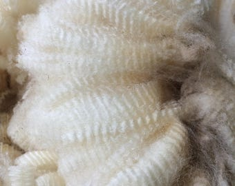 Raw Fleece, Rambouilet/CVM Cross, White, Grace