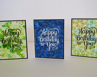 Three Birthday Cards