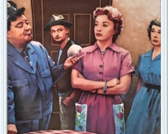 Jackie Gleason The Honeymooners Plate, by D.Kilmer, Art Carney, Audrey Meadows, Joyce Randolph, Hamilton Collection, Vintage 1987