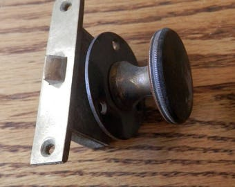 antique latch set for a cuboard or locker, original salvage