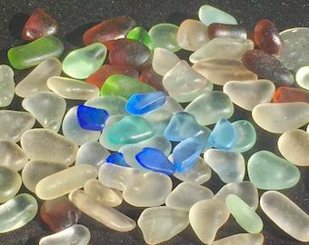 A-Sea Glass! Beach Glass! of HAWAII Beaches 100 COBALT SALE! Genuine Sea glass for Jewelry! Bulk Sea Glass! Sea Glass Bulk!