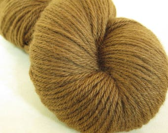 Hand-Dyed Wool Yarn - Foraged Black Walnut Hulls - Plant-Dyed - Worsted Weight - YAW101720 - 100 grams