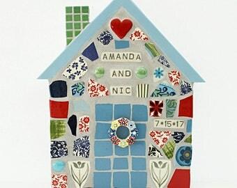 Mosaic Wedding House Personalized Wall Art CUSTOM ORDER