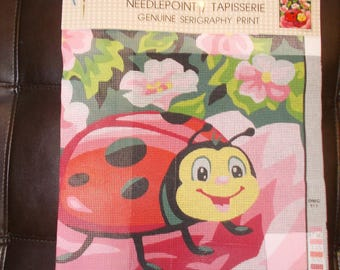 Lady Bug and Flowers Needlepoint Canvas 1116953