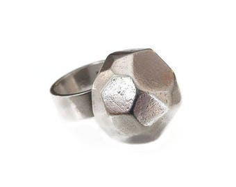 Magnus G:son Liedholm Sterling Ring, Sweden Silversmith, Swedish Jewelry, Modernist Ring, Domed High Profile, Sterling Silver, Vintage Ring