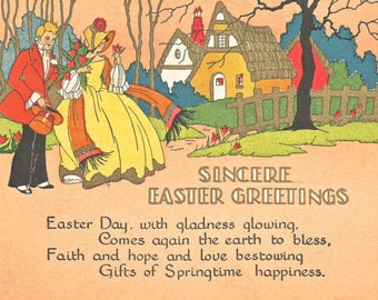 Easter poem like buzza 8 x 10 for framing. reproduction image art