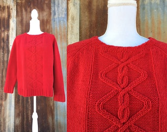 Soft Red Knit Sweater XL