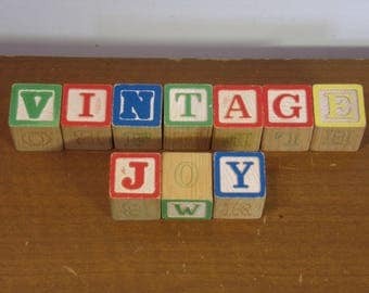 Vintage 1950's/1960's  Wooden Blocks