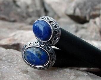 CIJ SALE Lapis Lazuli Hair Sticks Blue Gemstone Set of Two Minimalist Sets Pairs Everyday Simple Hairsticks Sets of Hair Chopstick Hair Pins