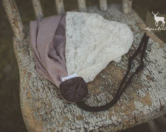Plum/Mauve Lace Camera Strap