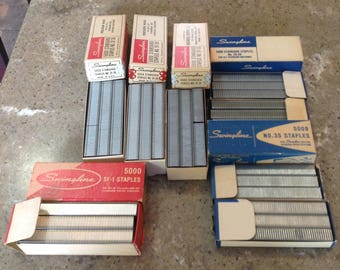 Vintage Industrial Office Swingline Staples Lot of 6 Boxes #35 35-2D SF-35 SF-1
