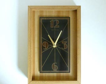 Butcher Block Clock Etsy