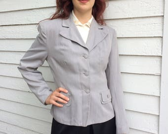 Zim 40s Tailored Jacket Gray M Vintage