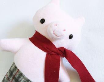 Animalpants Pig in Pink Fleece - READY TO SHIP