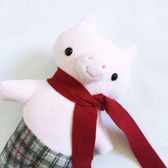 Animalpants Pig in Pink Fleece - READY TO SHIP