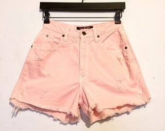 L.A. Blues  Distressed High Waisted Shorts