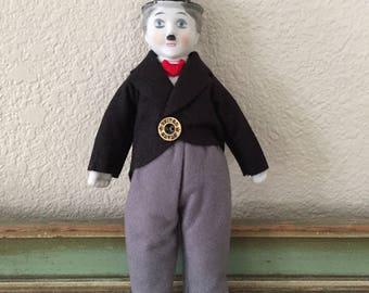 vintage Charlie Chaplin porcelain doll
