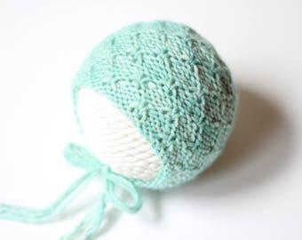 Knitting Pattern, Knit PDF Pattern,  Newborn Hat Pattern, PHOTO shoot prop,  Knit, Tutorial, PDF, Newborn hat, Aurora Bonnet
