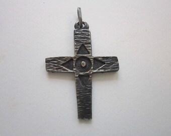 vintage CROSS pendant - crucifix pendant charm