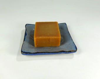 Ceramic soap dish, pottery soap holder, stoneware soap or ring dish, ring holder trinket dish, bathroom soap dish, pottery ring dish