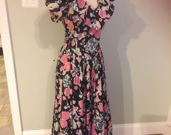 Vintage 80's Laura Ashley Tea Dress