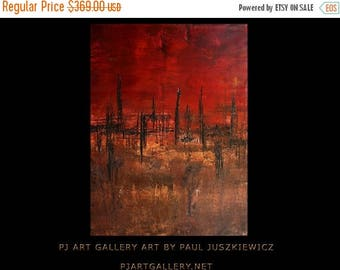 """17% OFF /ONE WEEK Only/ Extinction abstract by Pawel Juszkiewicz enormous texture 48"""" X 36"""""""