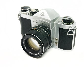 Pentax S1A manual mechanical SLR film camera with 55mm f1.8 multi-coated lens