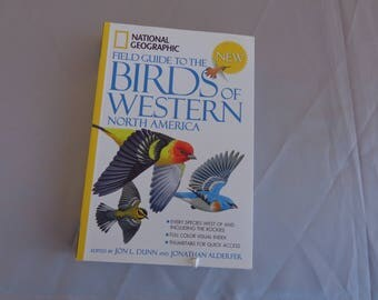 Bird Book for use as Craft Reference -Field Guide to Birds of Western North America by National Geographic