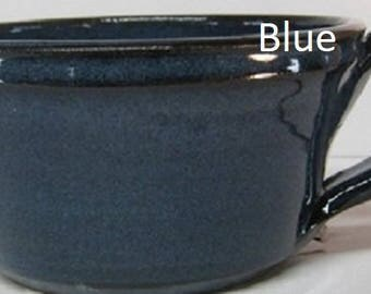 Handmade Pottery soup, cereal, chili bowl with Handle, Free Shipping, holds  18 ounces